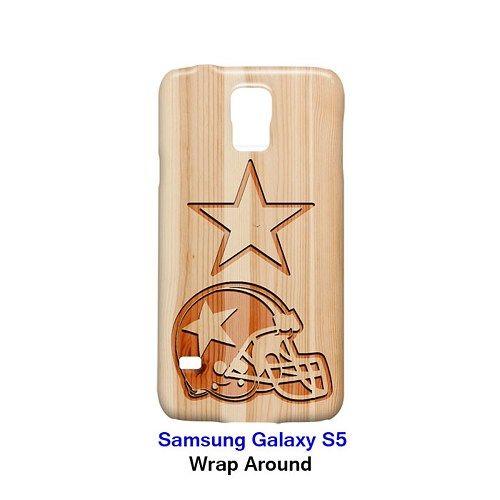 Dallas Cowboys Style Wood 2 Case for Samsung Galaxy S5