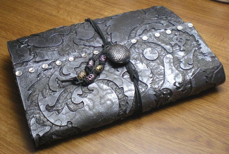 Keepsake Crafts  | Faux Leather Sketchbook – Part 3, Finishing Touches | http://keepsakecrafts.net/blog