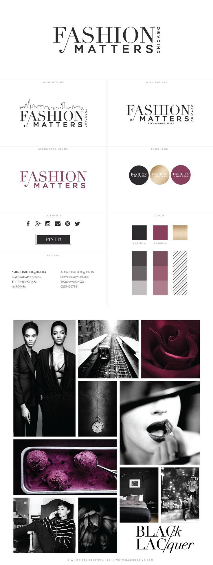 Fashion Matters Chicago Logo Identity, creative business branding, creative business blog design, logo design, wordpress theme, mood board inspiration, blog design idea, graphic design, branding