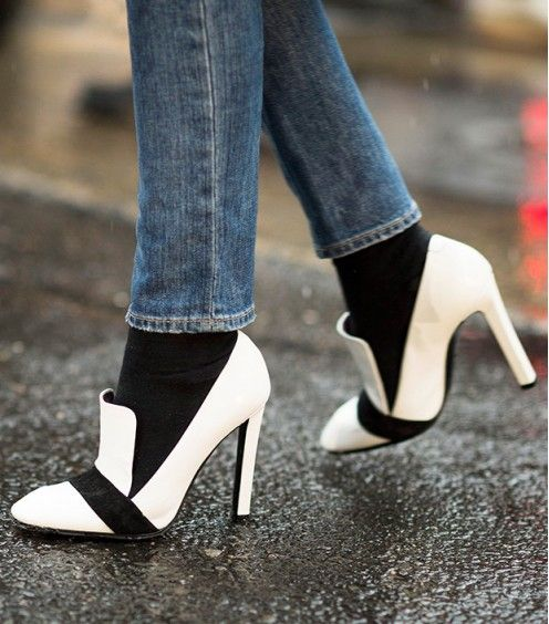 Spring's Chicest Footwear--Straight From The Streets.  Very cool shoes