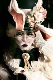 Image result for white rabbit steampunk costume