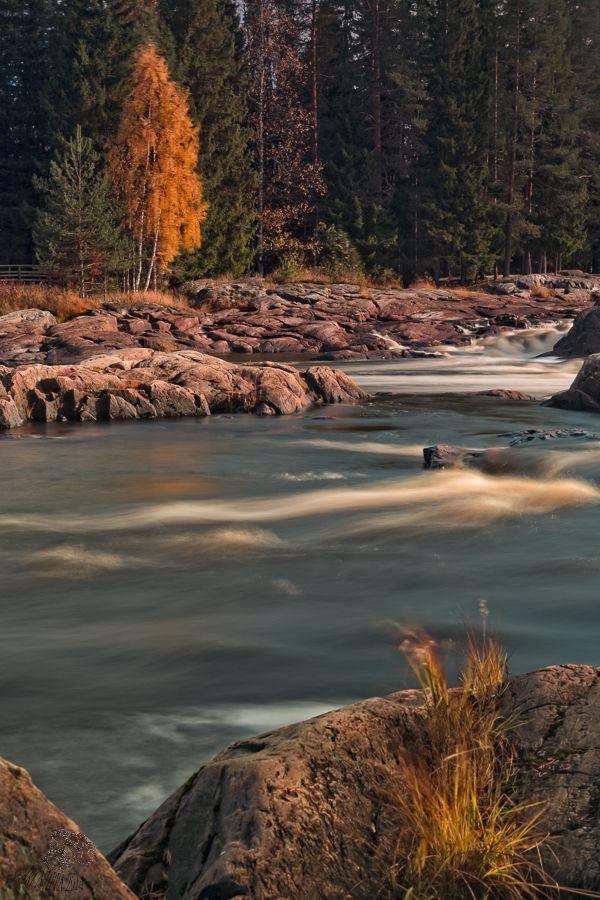 Koiteli waterfall, in Kiiminki Finland.