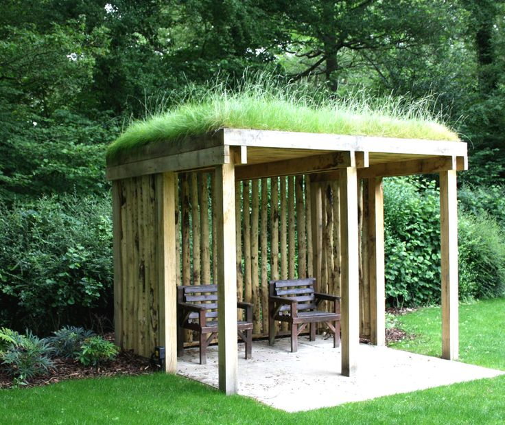 Green roof arbour designed by Anderson Landscape Design