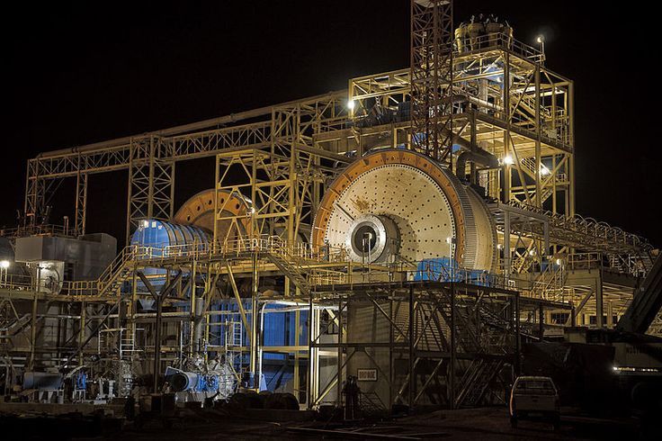 Processing facilities at the Essakane Mine in Burkina Faso