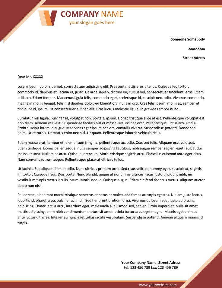 company letterhead template word Fobam Pinterest Company - letterhead format in word