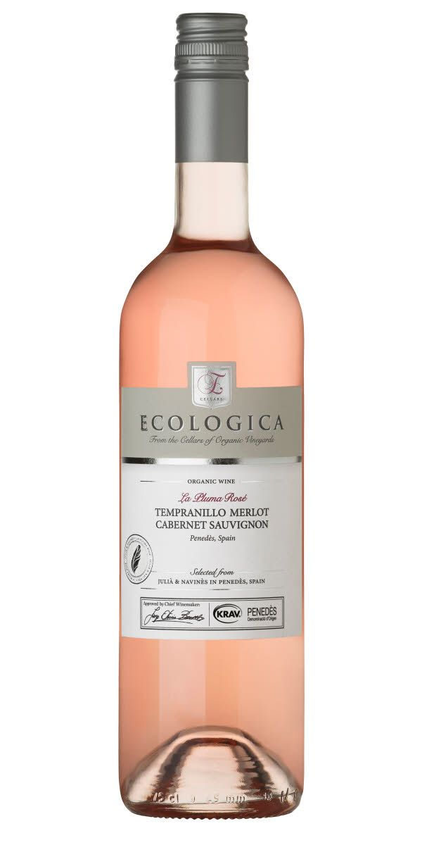 Ecologica La Pluma | Fruktig smak med inslag av persika, jordgubbar, vattenmelon och blodapelsin. Serveras vid cirka 8°C som sällskapsvin, till rätter av fisk eller kyckling eller sallader.