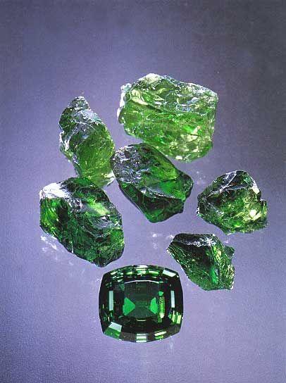 Tsavorite The Rich Vibrant Green That When Cut Well