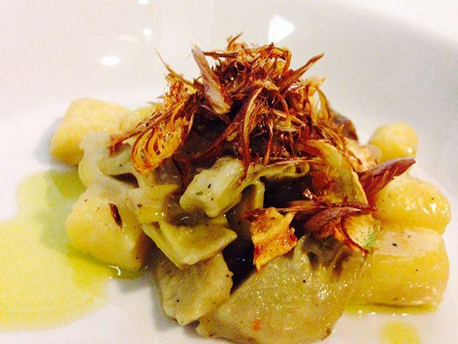 Gnocchi di patate rosse con carciofi   Food Loft - Il sito web ufficiale di Simone Rugiati