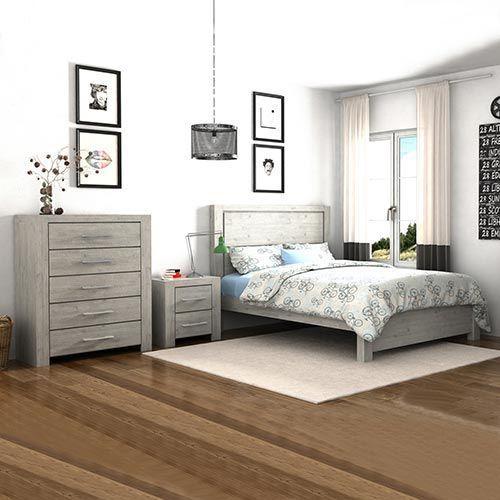 Arya 4 pcs Queen Bedroom Suite in Ash Ceram Colour ...