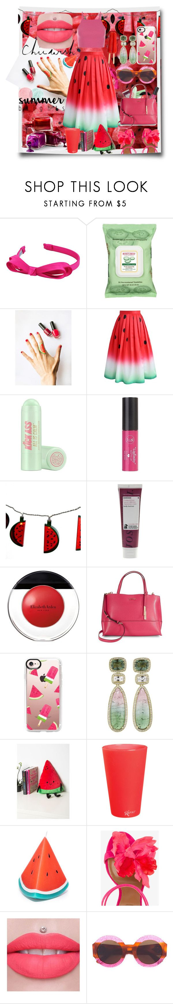"""""""#chicwish"""" by imnotyourstyle ❤ liked on Polyvore featuring L. Erickson, Burt's Bees, Chicwish, Soap & Glory, Charlotte Russe, Korres, Elizabeth Arden, Calvin Klein, Casetify and Dana Rebecca Designs"""