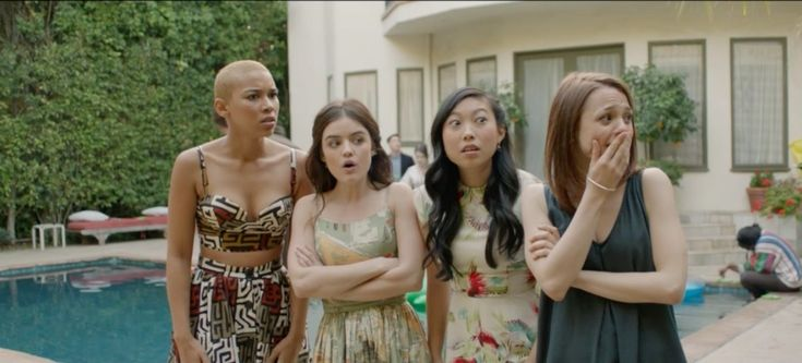 Lucy Hale, Kathryn Prescott, Alexandra Shipp, and Awkwafina in Dude (2018)