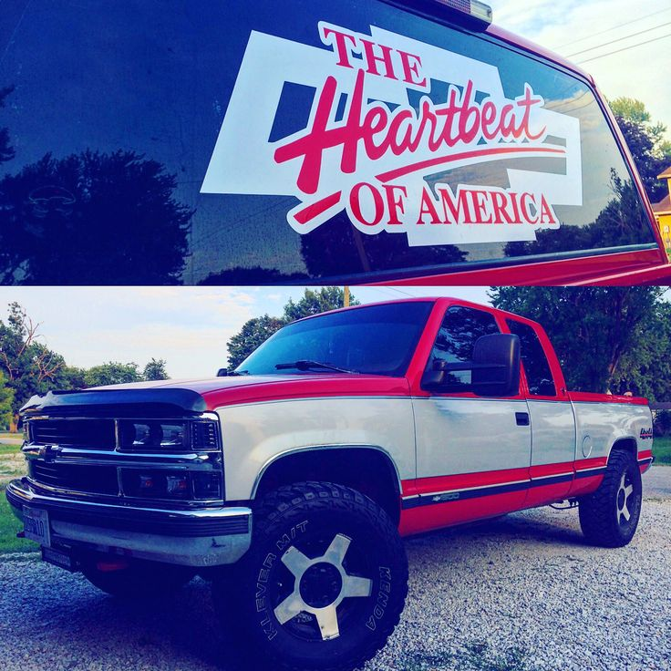 Heart beat of america truck decal custom made by vinyl
