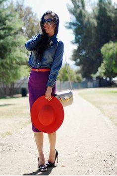 purple pencil skirt | winter style | Pinterest | Kynähameet ...