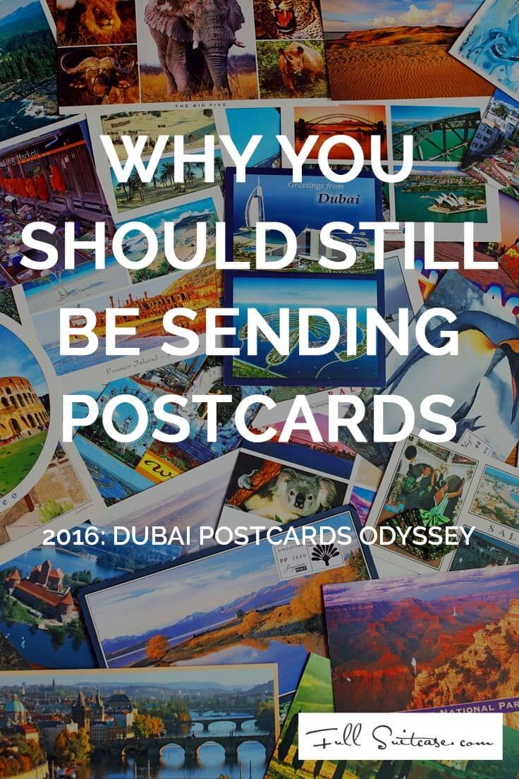 Should you be sending postcards in this time of instant communication? Our Dubai…