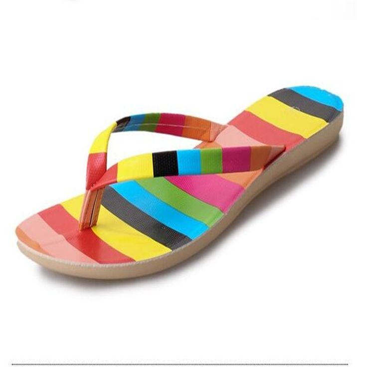 $13.91 (Buy here: https://alitems.com/g/1e8d114494ebda23ff8b16525dc3e8/?i=5&ulp=https%3A%2F%2Fwww.aliexpress.com%2Fitem%2FNEW-2016-colorful-Brand-Designer-Flip-Flops-Women-Flat-Female-Slippers-Summer-Shoes-With-Rivets%2F32647756300.html ) Rainbow Sandals For Women 2016 Colorful Brand Designer Flip Flops Women Flat Slippers Summer Shoes With Rivets Rainbow Sandals for just $13.91