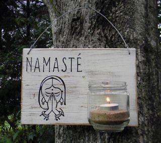 Letrero Namasté | luminaria