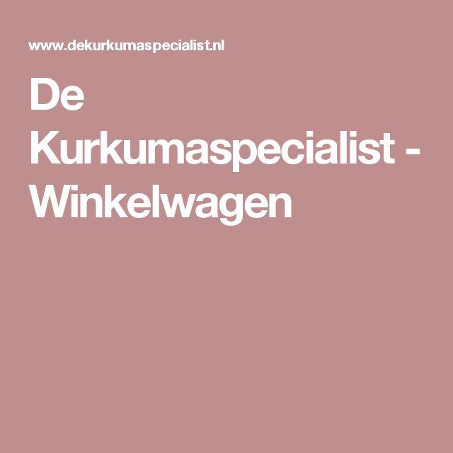De Kurkumaspecialist - Winkelwagen