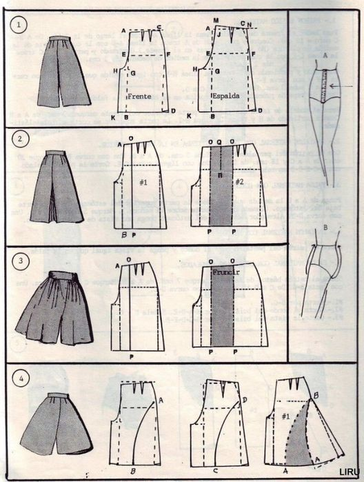 Transform skirt to palazzo pattern
