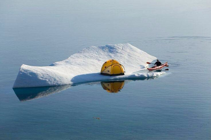 iceberg camping and kayaking #kayak #kayaking #kayaker