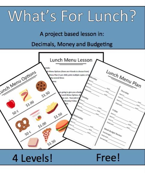 This engaging and open-ended lesson can be used with kids of various ages. If you teach older kids (upper elementary and middle school) this is the perfect introduction to adding and subtracting decimals. Included in the download: Teaching tips, extensions and variations 4 lunch menus of varying degrees of difficulty Printable lunch plan budget worksheetKeep Reading...