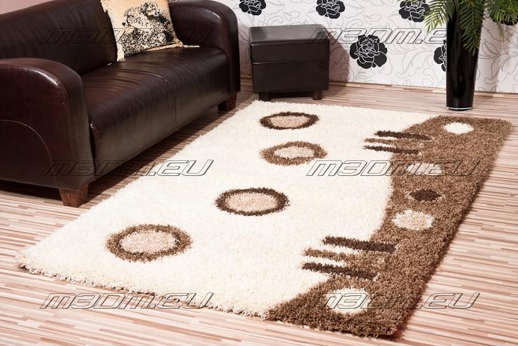 Shaggy szőnyeg barna-krém szinben
