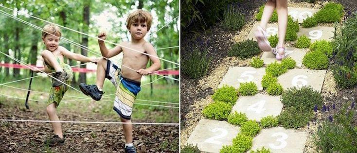 aire de jeux au jardin et activités de plein air pour garçons et filles