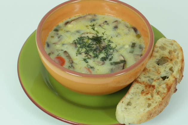 MUSHROOM SOUP  I remember having to eat this as a kid and hated it but now I love it! Dad picked the mushrooms in the woods and Gran grew the potatoes. Good stuff.