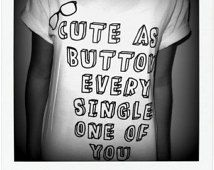 PREORDER: Cute As A Button Shirt - Harry Styles, Marcel, One Direction, 1D