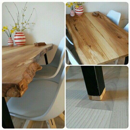 Hjemmelavet plankebord.  Homemade woodtable