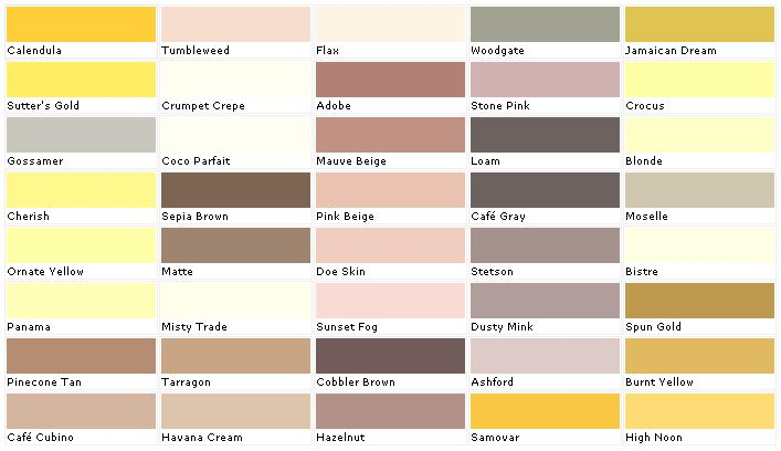 home depot yellow exterior paint swatch palette on indoor wall paint colors id=61442