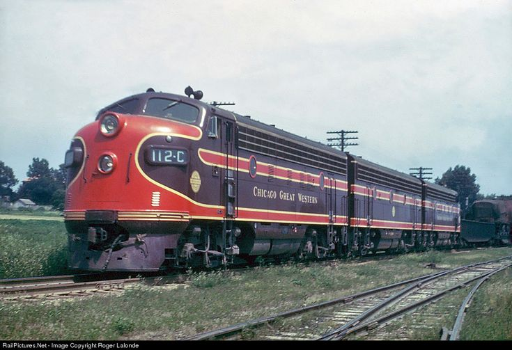 RailPictures.Net Photo: CGW 112C Chicago Great Western EMD F3(A) at Oelwein, Iowa by Roger Lalonde