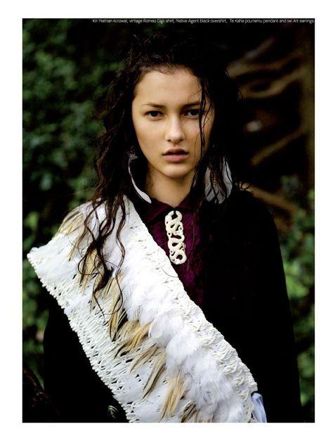 Ella Verbenne & Yasmin Bidois by David K. Shields for Stil Magazine:  white feathers and snake necklace...