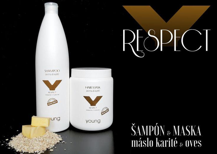 Edelstein Young RESPECT šampón a maska na vlasy pro hloubkovou hydrataci a výživu