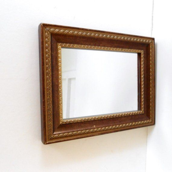 Vintage Small Wall Mirror Small Decorative Mirror Gold And Brown