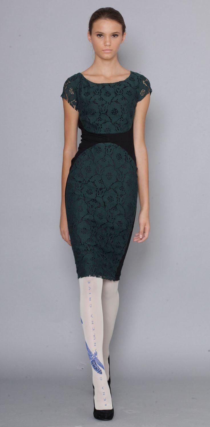 Lena Criveanu Magazin Online Fashion Designer Creatoare De Moda Rochie Dantela Verde Colectie Blue  http://shop.lenacriveanu.ro/