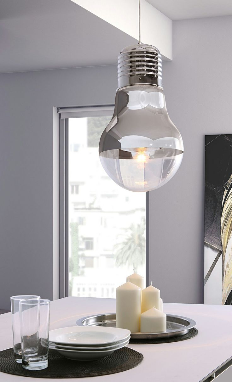 Ceiling lamp that looks like a giant light bulb! | product design | lighting design