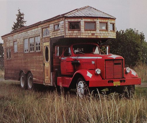 TO: Our Transport & Home on our All-American Gourmondo Roadtrip!  Rolling Homes: Handmade Houses on Wheels by Amy Merrick, via Flickr