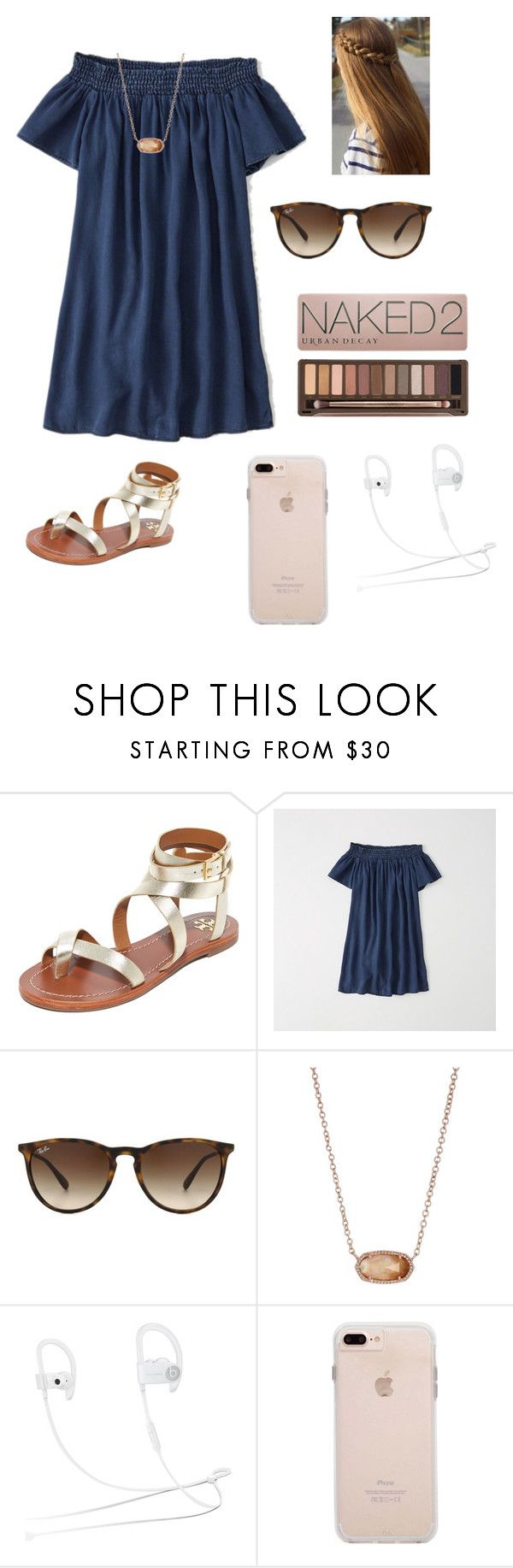 """wedding. hour away."" by mallory-d ❤ liked on Polyvore featuring Tory Burch, Abercrombie & Fitch, Ray-Ban, Kendra Scott, Beats by Dr. Dre and Case-Mate"