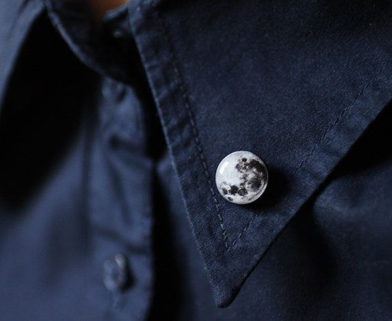 Full Moon collar brooch Space collar pin tiny by smafactory, $18.00 This is really nice!