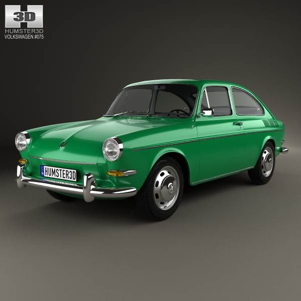 Volkswagen Type 3 (1600) fastback 1965 3d model from humster3d.com. Price: $75