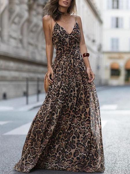 Leopard Print Maxi Dress 2