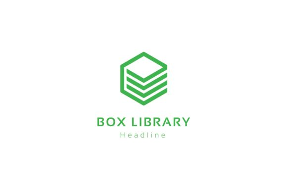 Box library logo. by anton.akhmatov on @creativemarket