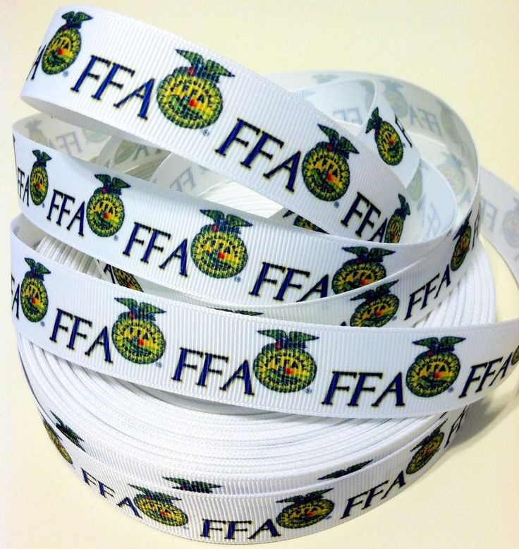 "We could always use some fancy ribbon, right? ;) @massey68 FFA~ Future Farmers of America Logo 7/8"" Grosgrain ribbon (USA Seller) #FFAFutureFarmersofAmericaLogo"