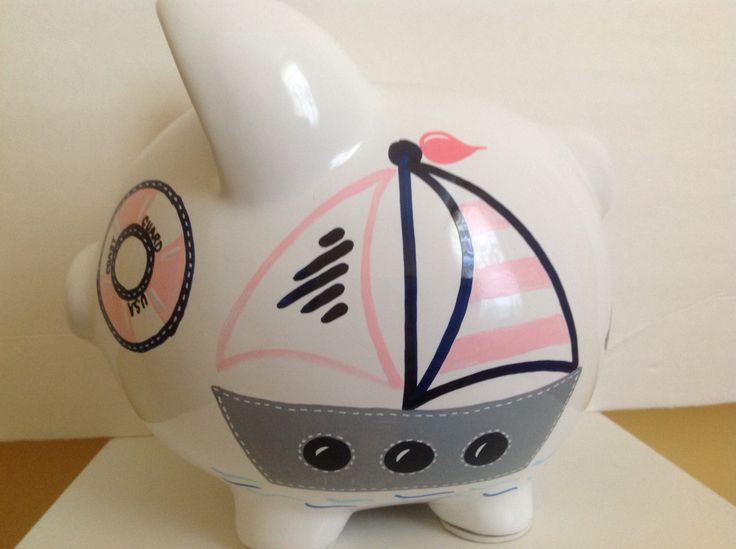 17 best ideas about piggy bank craft on pinterest diy piggy bank allowance chart and chore board - Nautical piggy bank ...