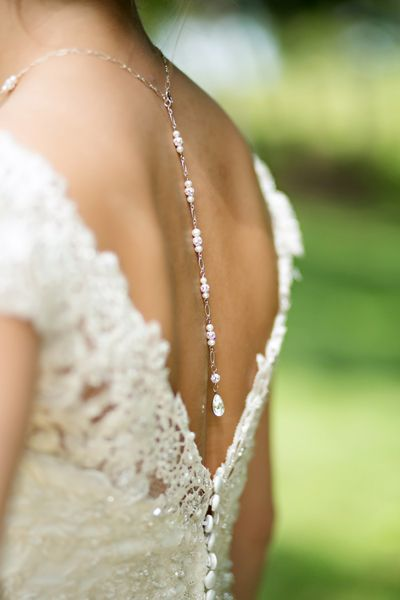 love this bride's unique necklace! | Katharine Birkbeck #wedding