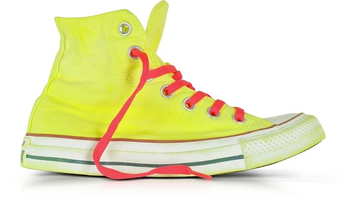 Converse Limited Edition Chuck Taylor All Star Hi Neon Yellow Canvas LTD Sneakers