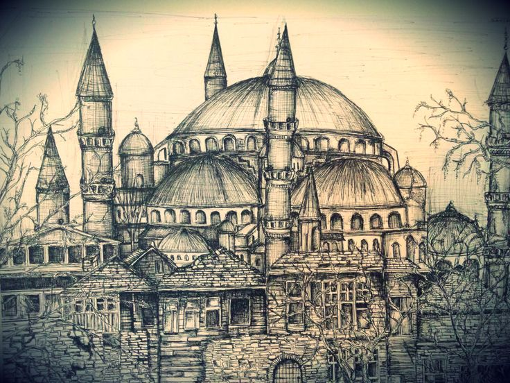 City Sketch- Blue Mosque, Istanbul, Turkey