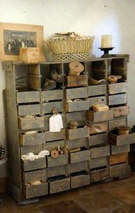 What an adventure this could be for children. fill each draw with natural treasure. Don't forget a step ladder to get to the top drawers.