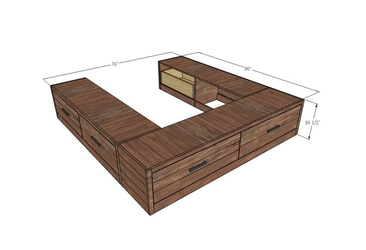 Easy Build Drawers ~ Ana white build a brandy scrap wood storage bed with
