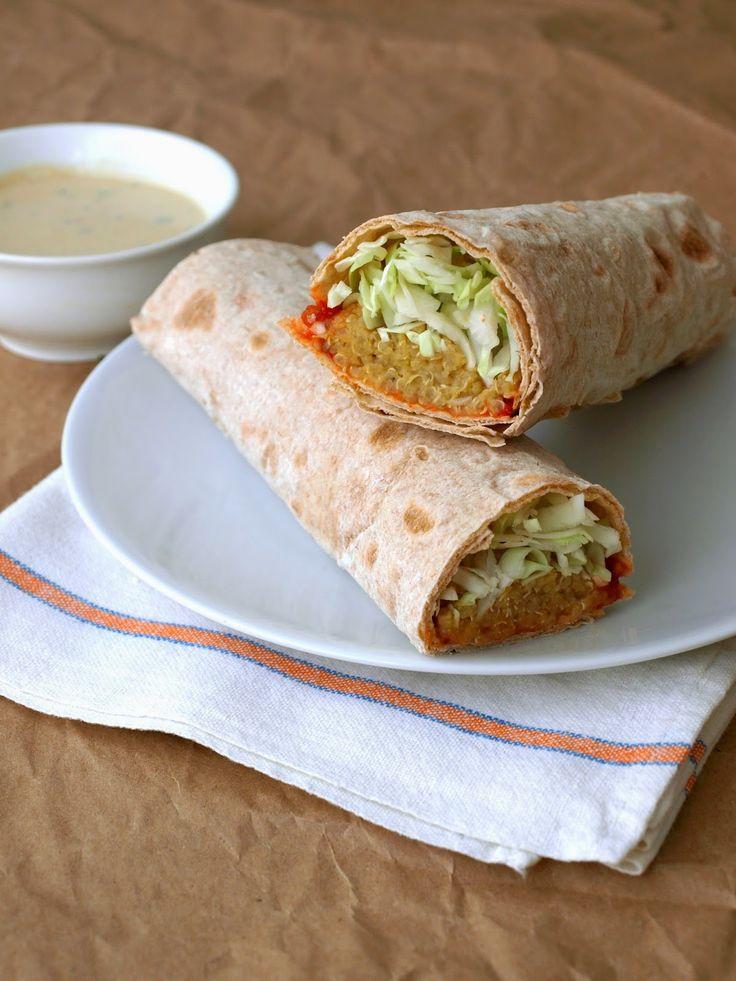 Spicy Lentil & Quinoa Wraps with Tahini Sauce. I had the spicy lentil ...